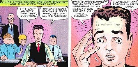"""Proto Peter uscito il numero-precedente di AMAZING FANTASY, il 14, come """"Tad Carter"""""""