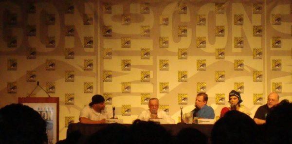 Stan Lee sul palco del San diego comic con 2012