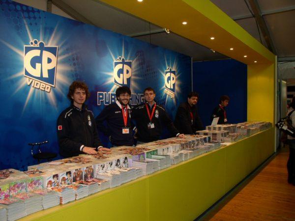 Stand della GP Publishing, la nuova casa editrice che pubblica manga. Foto di Antonio Recupero
