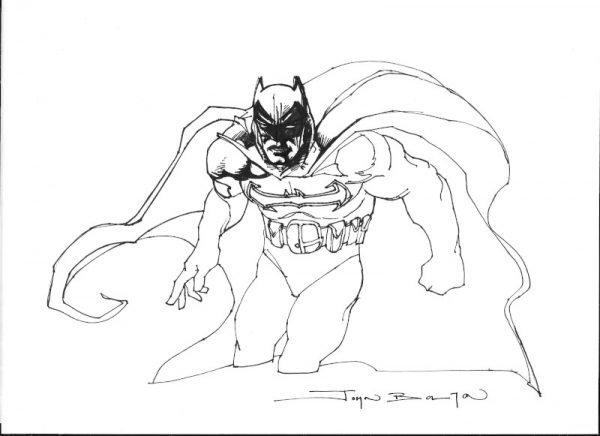 1994-95_batman study original john bolton regalato al Palermo Comic convention del 2105