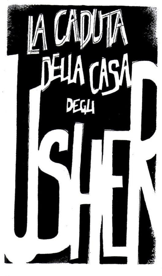 """Dettaglio Tavola 1 della storia """"LA caduta della casa degli Usher"""