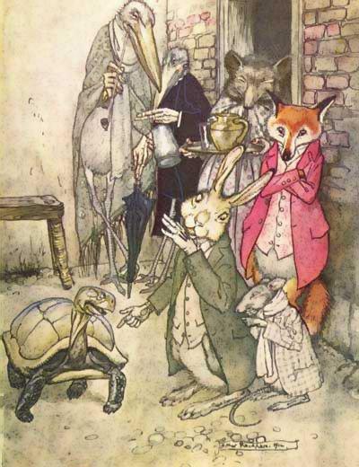 un'amabile illustrazione realizzata da Arthur Rackham (1867-1939).