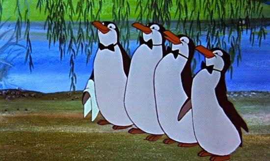 Nell'arte antropomorfica i camerieri sono spesso rappresentati come pinguini, famosi nella versione cinematografica di Mary Poppins (Disney, 1964).