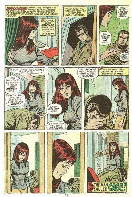 L'ultima tavola di Amazing Spider-Man 134. la fine di un'era, per i super eroi Marvel.