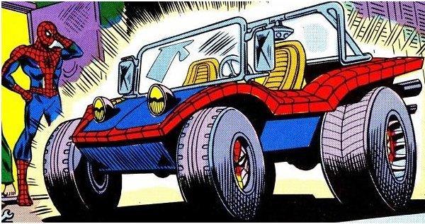 """la """"spider-mobile"""" uno dei momenti pop più elevati di spider-Man"""