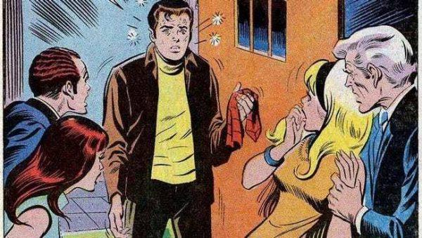 alterato da un attacco di influenza, Peter rivela a tutti il suo segreto nel bel mezzo di una festa. - Amazing Spider-Man 87