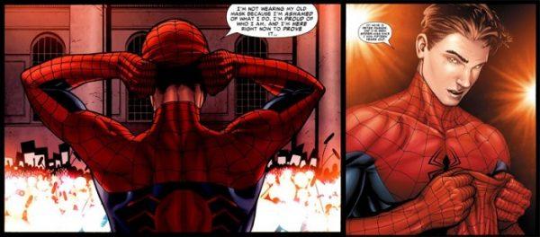 Peter Parker si fa convincere da un'integerrima figura paterna come il leader degli AVENGERS Tony Stark IRON MAN a smascherarsi davanti al mondo ... (Civil War)