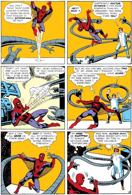 tavola da spider-man contro Dr. Octopus tratta dalAMAZING 3