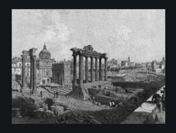 Le rovine di Roma, la Citta Eterna