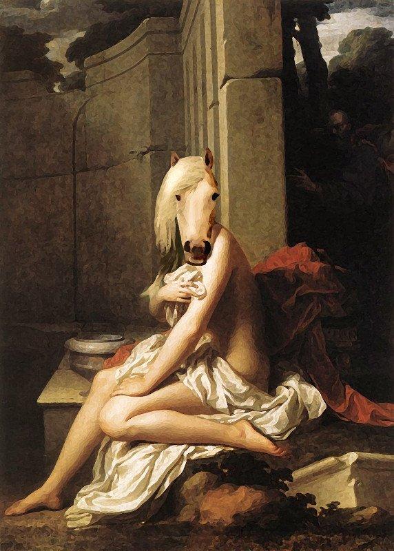 Non riesco a ricordare quale classico dipinto di nudo abbia antropomorfizzato (se è una parola!) per decorare l'appartamento di Pegasus.
