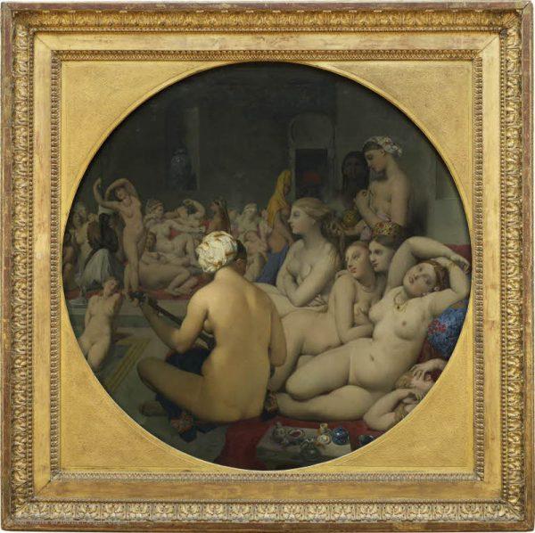 Vagamente ispirata a The Turkish Bath (Il bagno turco) di Jean-Auguste-Dominique Ingres (1780 – 1867).