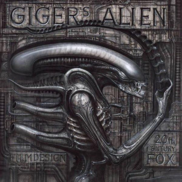 La storica illustrazione di Alien a cura di H.R. Giger. © degli aventi diritti