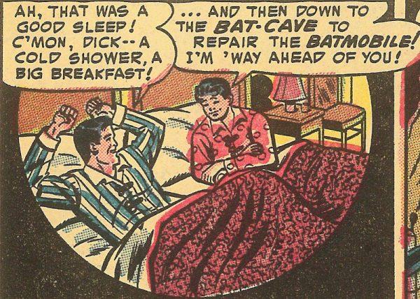 """Bat-man sta con Robin?: """"Si noti il malizioso tratto di divisione tra i due letti che conferma la mancanza di innocenza nella rappresentazione subdola di un more uxorio"""""""