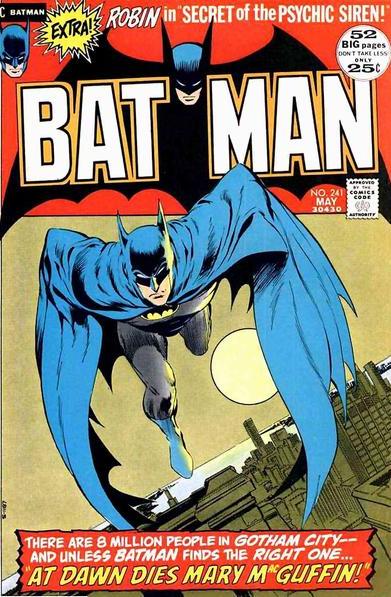 copertina di Bat-Man, nella sua tipica ambientazione metropolitana