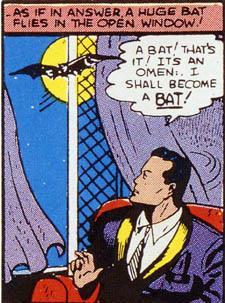 Batman risponde a un archetipo notturno, e il suo totem animale il pipistrello ne è la sintesi ideale.
