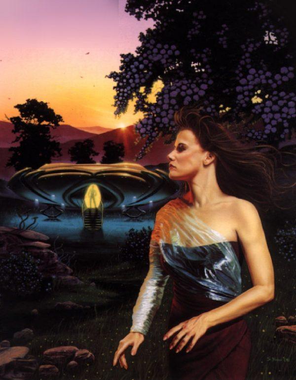 """immagine 9: Copertina di una delle ristampe di """"L'Orlo della Fondazione. Autore Stephen Youll © 1991"""
