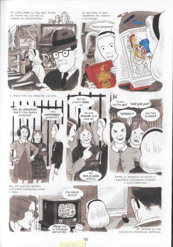 """Pagina 35 dell'edizione italiana di """"Dotter..."""" a confronto con l'edizione inglese (pagina 31)"""