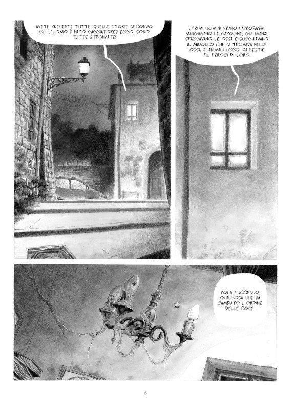 """Pagina 6 del romanzo a fumetti """"STAGIONE DI CACCIA"""""""