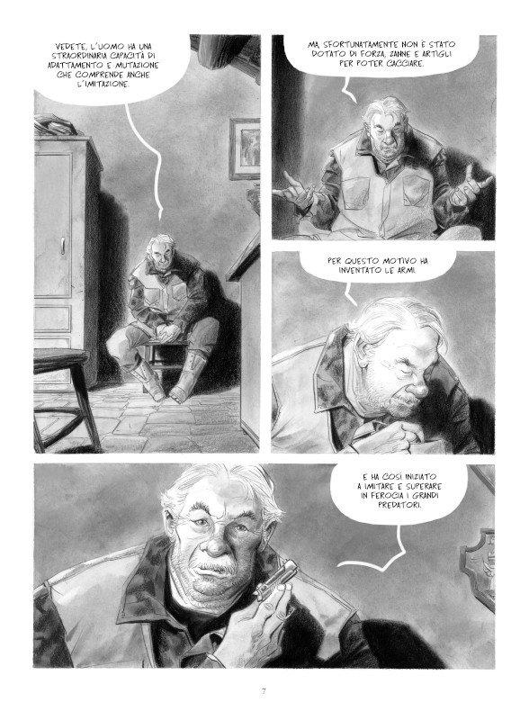 """Pagina 7 del romanzo a fumetti """"STAGIONE DI CACCIA"""""""