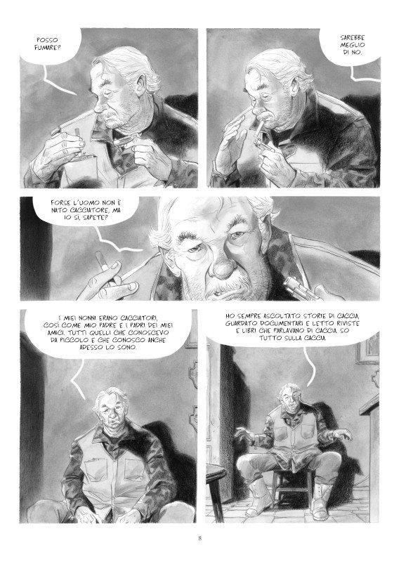 """Pagina 8 del romanzo a fumetti """"STAGIONE DI CACCIA"""""""