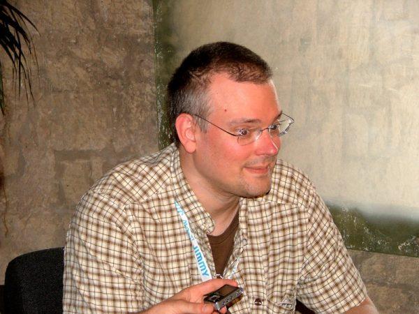 Foto di Steve Mc Niven, il disegnatore di Civil War, ospite del Napoli Comicon 2007. Per gentile concessione di mario benenati