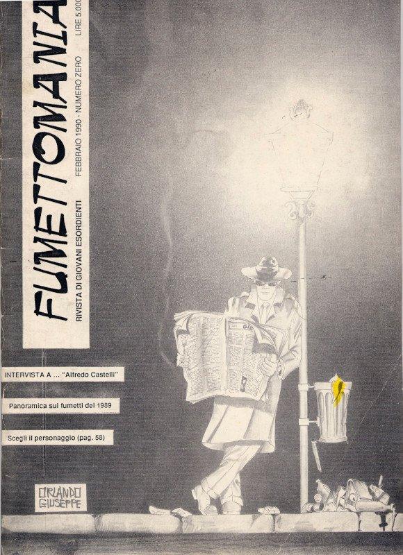 Copertina del numero zero di Fumettomania (Febbraio 1990)