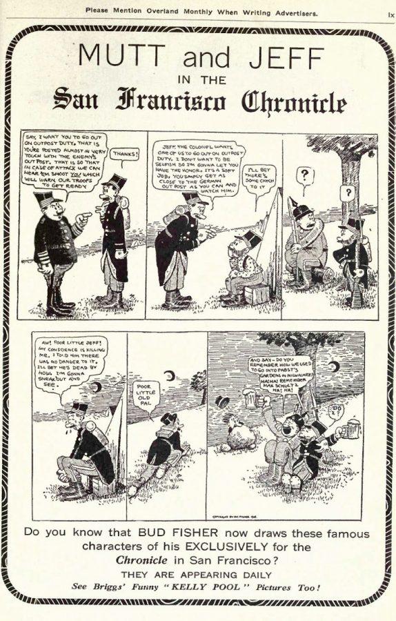 """Mutton Jeff: un gioco di parole: Mutt e Jeff era una strip americana su quotidiano, creata da Bud Fisher nel 1907 e pubblicata sino al 1983. """"Mutt e Jeff"""" divenne uno slang cockney in rime per """"sordo""""."""