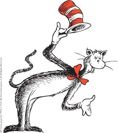 Il mimo in stile francese è ovviamente una citazione di The Cat in the Hat del Dottor Seuss.
