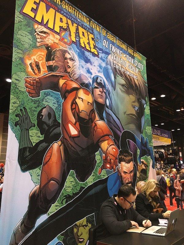 POSTER EMPYRE, il crossover tra Avengers e Fantastici quattro, illustrato dall'italiano Valerio Schiti,