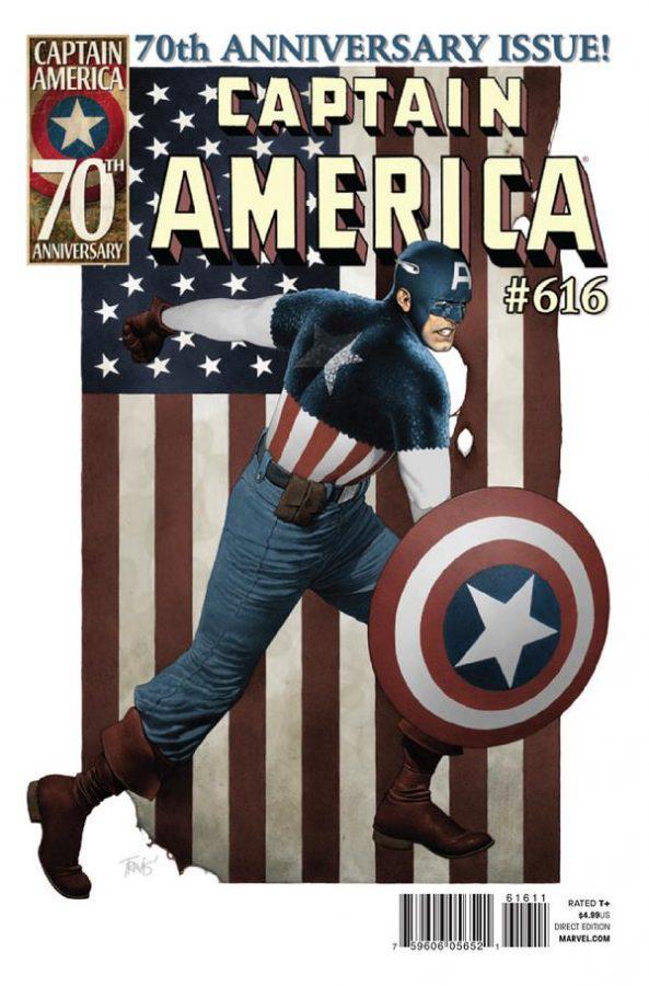 Copertina dell'albo Captain America n. 616, che festeggiò l'anniversario dei settant'anni del personaggio
