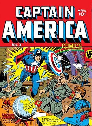 Captain America comics #2, aprile 1941, nel quale lo scudo di Cap. diventa rotondo