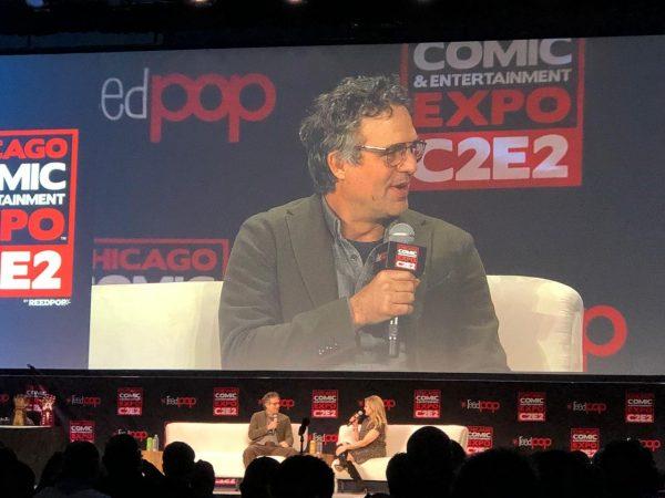foto dal Panel con l'attore americano Mark (Hulk) Ruffalo,