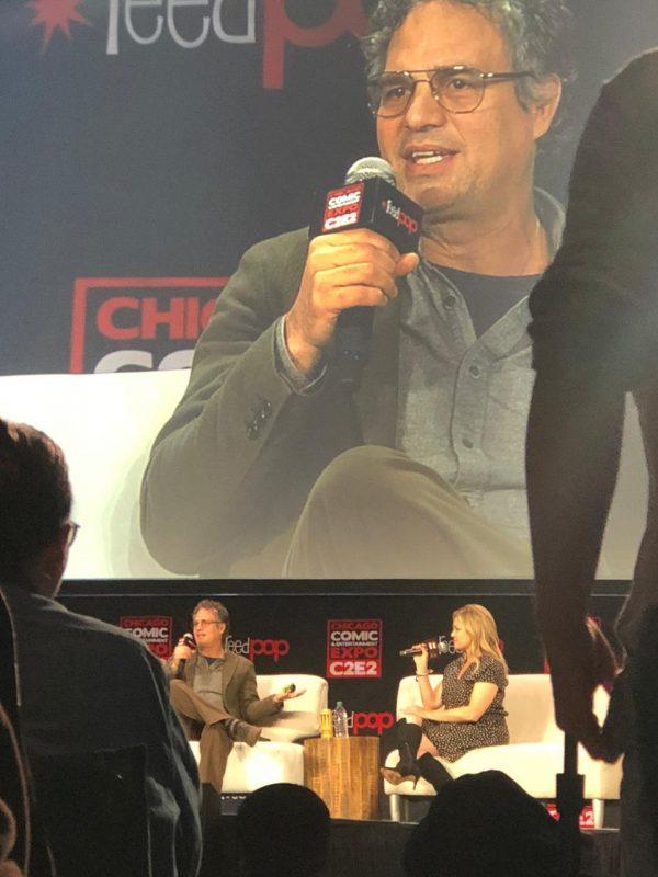 Un'altra foto dal Panel con l'attore americano Mark (Hulk) Ruffalo,