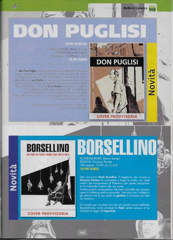 La pagina del mensile Aanteprima con le promozioni dei 2 nuovi libri a fumetti in uscita scritti da Marco Sonseri