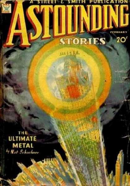 Copertina del numero di Febbraio di ASTOUNDING del 1935