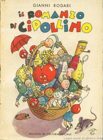 """Copertina de """"Il romanzo di cipollino"""" di Gianni Rodari"""