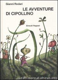 "Altra Copertina de ""Le avventure di cipollino"" scritte da Gianni Rodari"