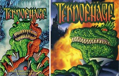 Dopo la pubblicazione del fumetto, un paio di lettori hanno notato la sua somiglianza con Teknophage, un personaggio che ho disegnato 20 anni fa per Tekno Comics.