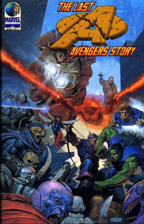 """copertina del book #2 di """"The last avengers story"""" (Marvel Comics, 1995).  © degli aventi diritti. Immagine utilizzata solo a scopi divulgativi"""