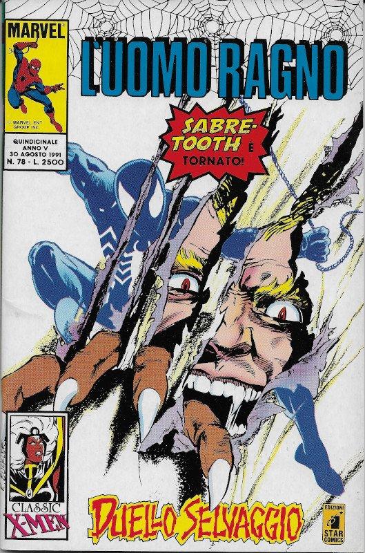 Copertina dell'albo L'Uomo Ragno (III)  # 78, Star Comics (Ago 1991), che contiene la storia Hope disegnata di John Bolton