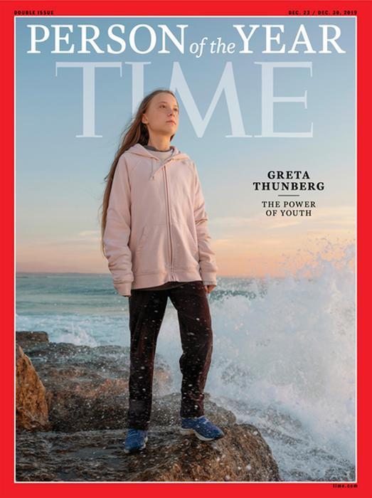 La copertina dl Time con la teenager svedese Greta Thunberg 'Persona dell'Anno'. per gentile concessione dell' ANSA/TIME EDITORIAL USE ONLY NO SALES. © degli aventi diritti