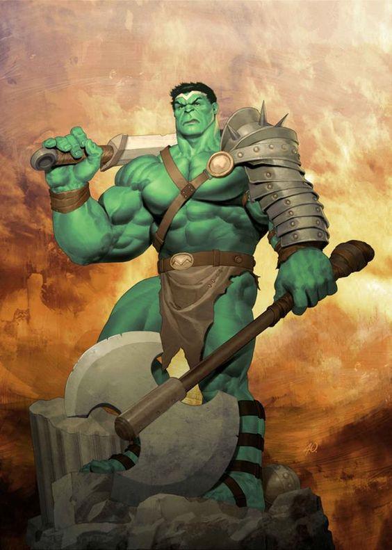 Hulk, nella versione di Ariel Olivetti
