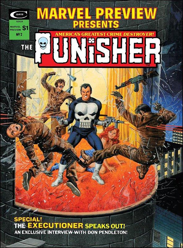 Copertina della serie MARVEL PREVIEW #2 co le origini de Il Punitore