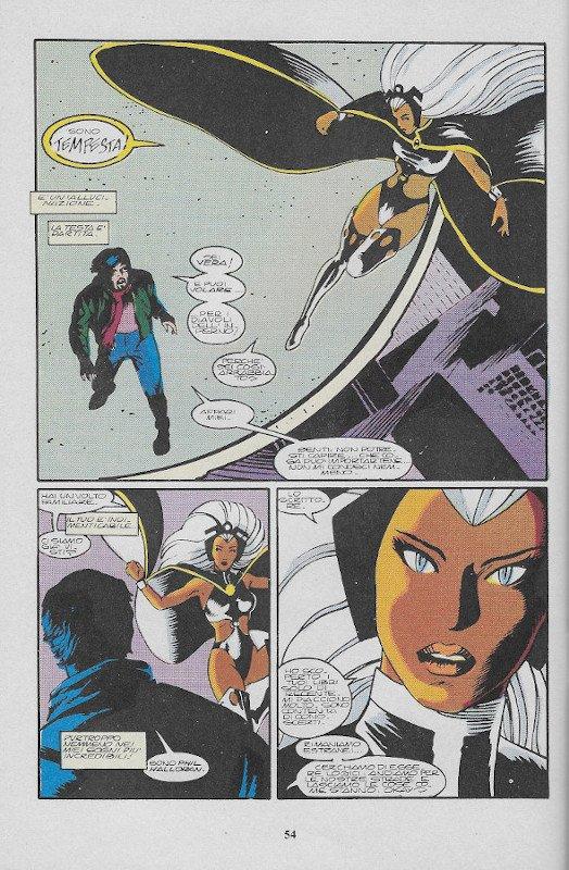 La pagina 54 dell'albo L'Uomo Ragno (III)  # 78, Star Comics (Ago 1991), che contiene nelle tre vignette i tre disegni di John Bolton visualizzati sopra (s280 - s499 e s503).
