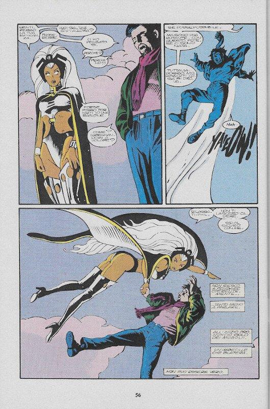 La pagina 56 dell'albo L'Uomo Ragno (III)  # 78, Star Comics (Ago 1991), che contiene, nella terza vignetta, il disegno di John Bolton visualizzati sopra (s281).