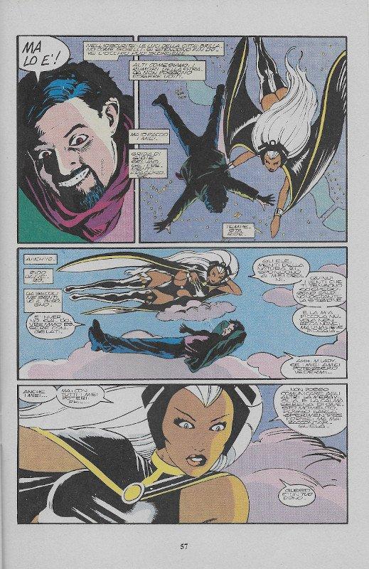La pagina 57 dell'albo L'Uomo Ragno (III)  # 78, Star Comics (Ago 1991), che contiene, nella quarta vignetta, il disegno di John Bolton visualizzati sopra (s502).