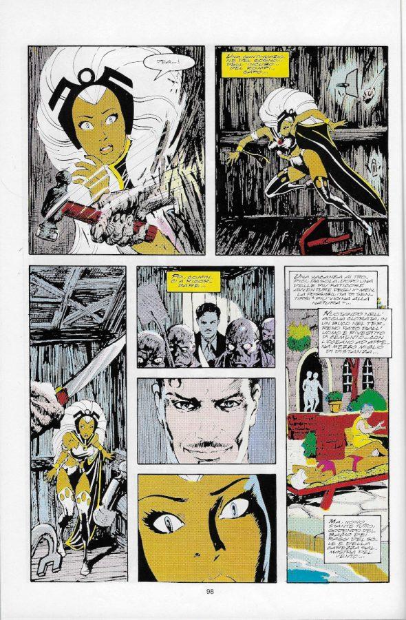 La pagina 98 dell'albo Marvel Magazine # 11, Marvel Italia (Mag 1995),  che contiene, nella prima vignetta, il disegno di John Bolton visualizzato sopra (s545).