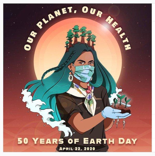 """immagine estratta dal profilo Instagram """"earthdaynetwork"""", dedicata alla cinquantesima Giornata Mondiale della Terra"""