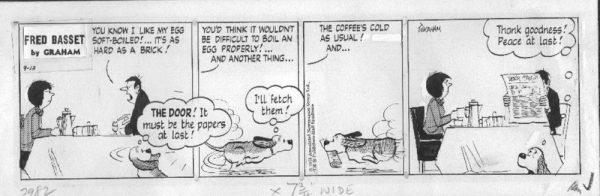 Fred è una riferimento a Fred Basset, la cui prima apparizione fu su una striscia nel quotidiano Daily Mail del 1963, scritto e disegnato da Alex Graham, e da allora lanciato in tutto il mondo. Ci sono libri che raccolgono tutte le strisce e, nel 1970, ci fu una breve serie animata in TV.