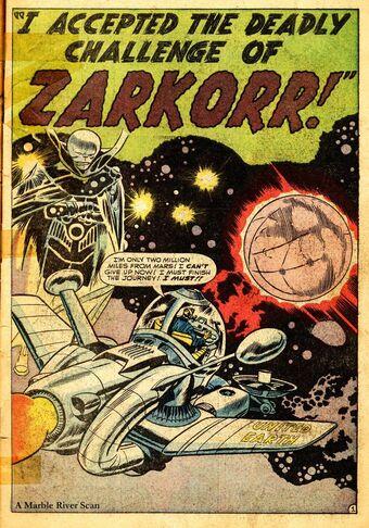 """Meno  """"inosservato"""" è stato il prototipo dell'OSSERVATORE, l'emissario extraterreste dal compito di neutrale cronista cosmico che incontrerà il Quartetto nel n.13, dopo una comparsata sotto le spoglie di """"Zarkorr"""" in TALES OF SUSPENSE 35."""